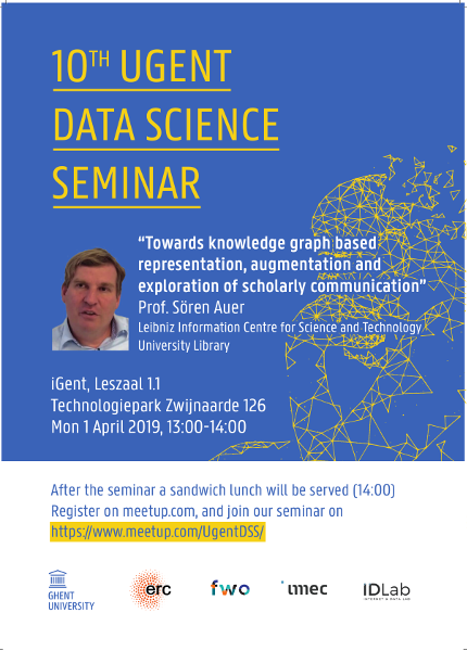 10th UGent Data Science Seminar with Prof. Sören Auer