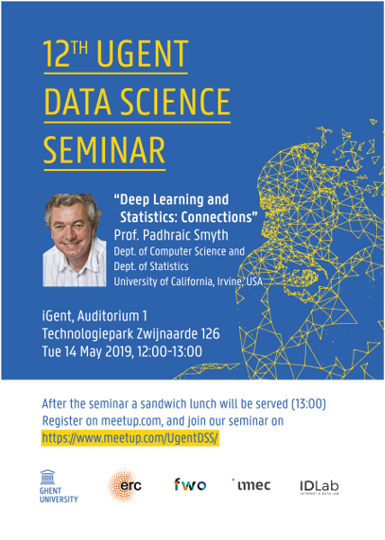 12th UGent Data Science Seminar with Prof. Padhraic Smyth