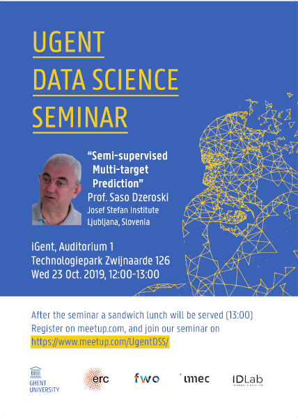 15th UGent Data Science Seminar with Prof. Saso Dzeroski