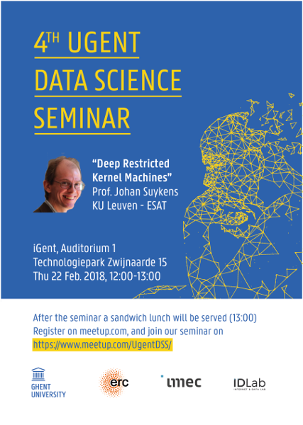 4th UGent Data Science Seminar with Prof. Johan Suykens