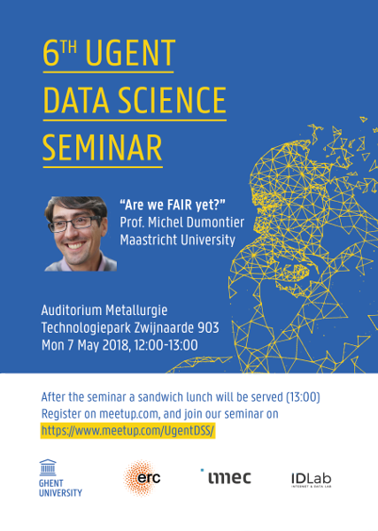 6th UGent Data Science Seminar with Prof. Michel Dumontier