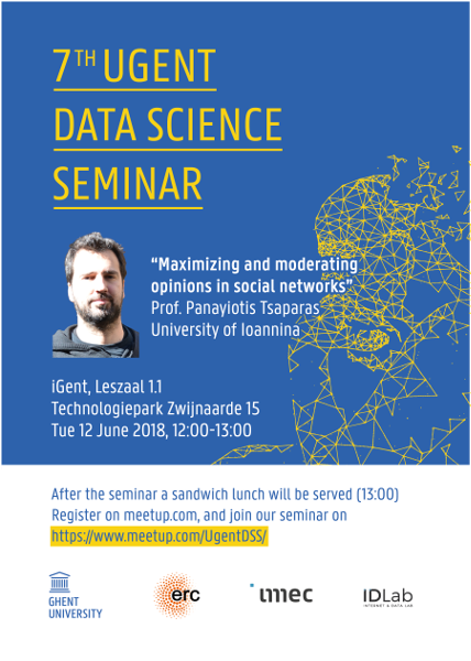 7th UGent Data Science Seminar with Prof. Panayiotis Tsaparas
